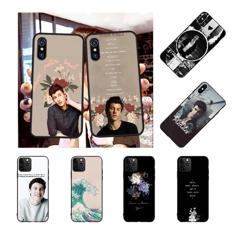 NBDRUICAI, carcasa de teléfono de TPU negro para iPhone 11 pro, XS, MAX, 8, 7, 6, 6S Plus, X, 5S, SE y XR