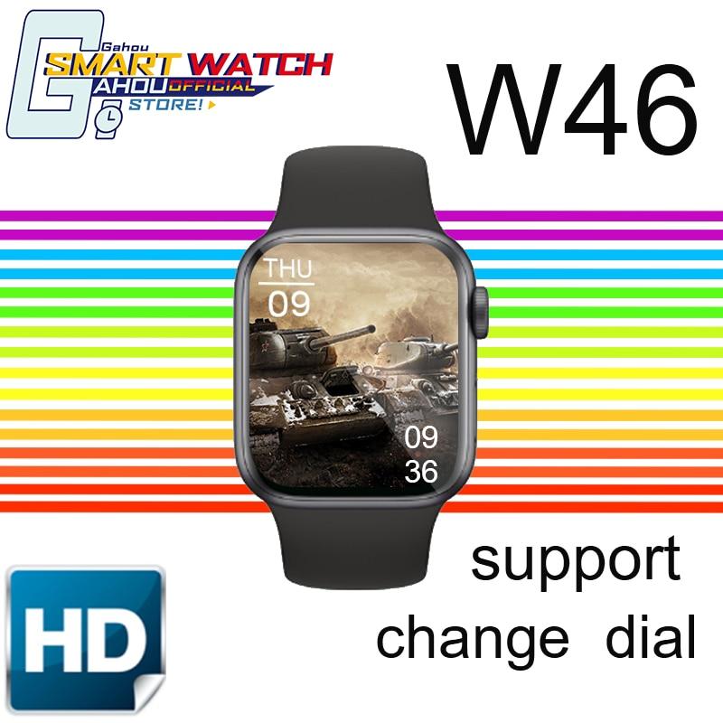 Montre intelligente pour hommes IWO W46 montre intelligente 2020 pour IOS android huawei montre en forme IWO W46 PK Amazfit Neo W26 Haylou Ls02 X6 T500