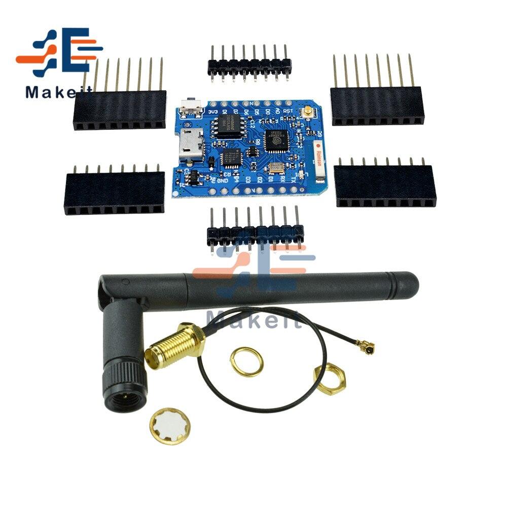 For WEMOS D1 Mini Pro 16M Bytes External Antenna Connector NodeMCU ESP8266 ESP-8266EX CP2104 WIFI Development Board Micro USB esp 8266ex development board esp launcher