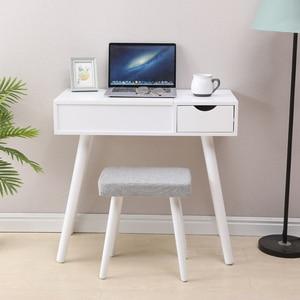 Bedroom Mirrored Furniture Vanity Table White Desktop Dressers for Bedroom Makeup Chair Set with Mirror 80cm