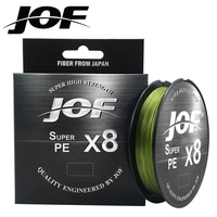JOF 8 טווה דיג קו 150M 300M 500M 8 גידים קלועה דיג קו Multifilament PE קו 15 20 30 40 50 60 80 100LB