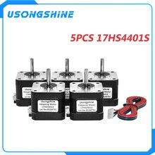 Usongshine 3D impresora 5 unids/lote 17HS4401S 4-plomo Nema17 Motor paso a paso 42 motor 42BYGH 1.5A (17HS4401S) para CNC XYZ máquina