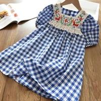 dress 2021 new summer girl clothes dress for girls children clothes girl plaid dress casual dress