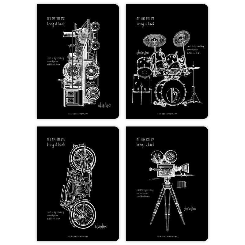 B5 Mechanische Labyrinth Retro Kunst Notizblock Linie Notebook Papier Planer Agenda Schule Tagebuch Hinweis Buch Kalender Studie Stationären