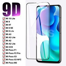 9D Gehärtetem Glas Für Xiaomi Poco M3 X3 NFC F1 F2 Pro Screen Protector Mi A3 A2 9 10 Lite 9 SE 9T Pro A1 Schutz Glas Film