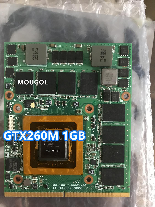 Original GTX 260M GTX260M Video Vga tarjeta gráfica para Dell Alienware M17X M15X cuaderno DDR3 prueba 100%