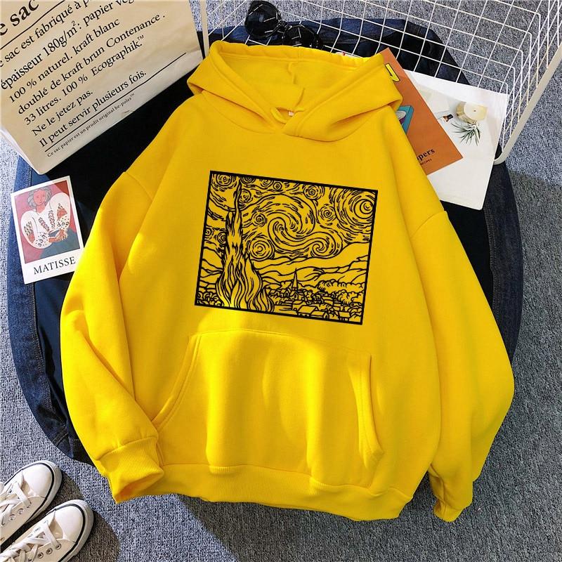 drawstring queen print hoodie Autumn Women's Hoodie Hip-hop Thick Oil Painting Print Sweatshirt Korean Women's Long-sleeved Drawstring Pullover Pocket Sweater
