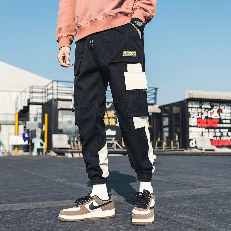 Streetwear Men's Multi Pockets Cargo Harem Pants Hip Hop Casual Male Track Pants Joggers Trousers Fa