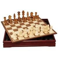 tournament large outdoor chess set luxury wood adult interior storage chess set portable juegos de mesa entertainment bd50cg