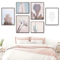 cactus lighthouse plants desert quotes wall art canvas painting nordic posters and prints wall pictures for living room decor