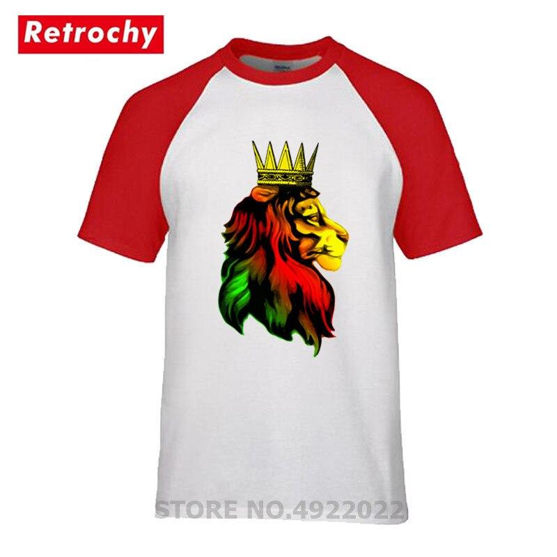 Royal Reggae Rasta Lion T Shirt Awesome Lion Africa Power King T-shirt Camisetas Men O-Neck 100% Cotton Roots Jamaica Flag Shirt