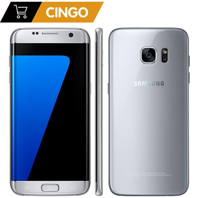 Samsung Galaxy S7 Edge 5,5 4GB RAM 32GB ROM Smartphone resistente al agua una SIM Quad Core NFC 12MP 4G LTE 3600mAh teléfono móvil
