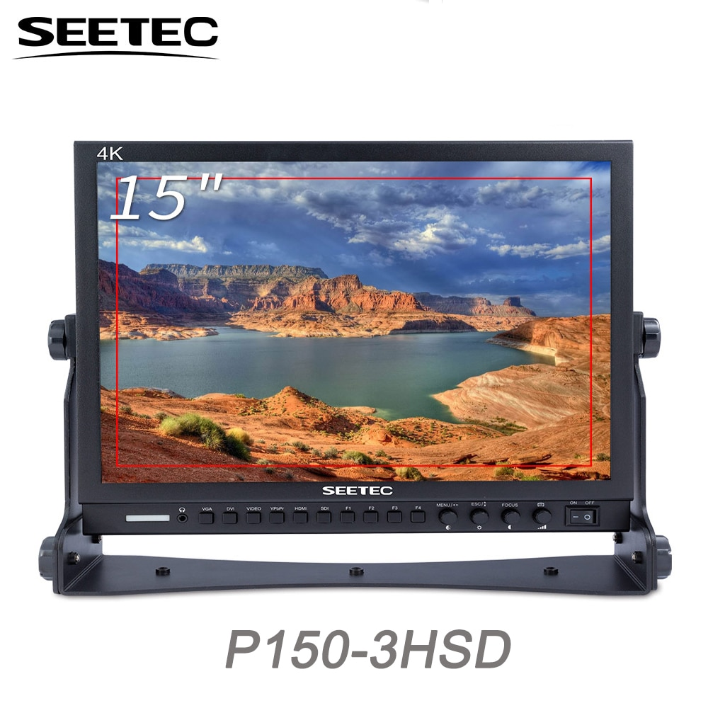 Seetec 15 بوصة تصميم الألومنيوم 1024x768 HD برو بث شاشات كريستال بلورية مع 3G-SDI HDMI AV YPbPr P150-3HSD سطح المكتب شاشات كريستال بلورية