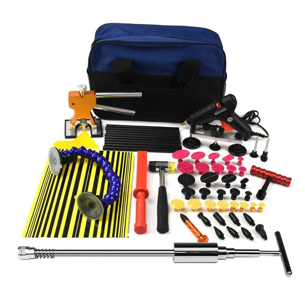 PDR Tools Paintless Dent Repair Tools Dent Removal Tools Reflector Board Hand Tool Set PDR Kit glue gun dent lifter tabs hammer