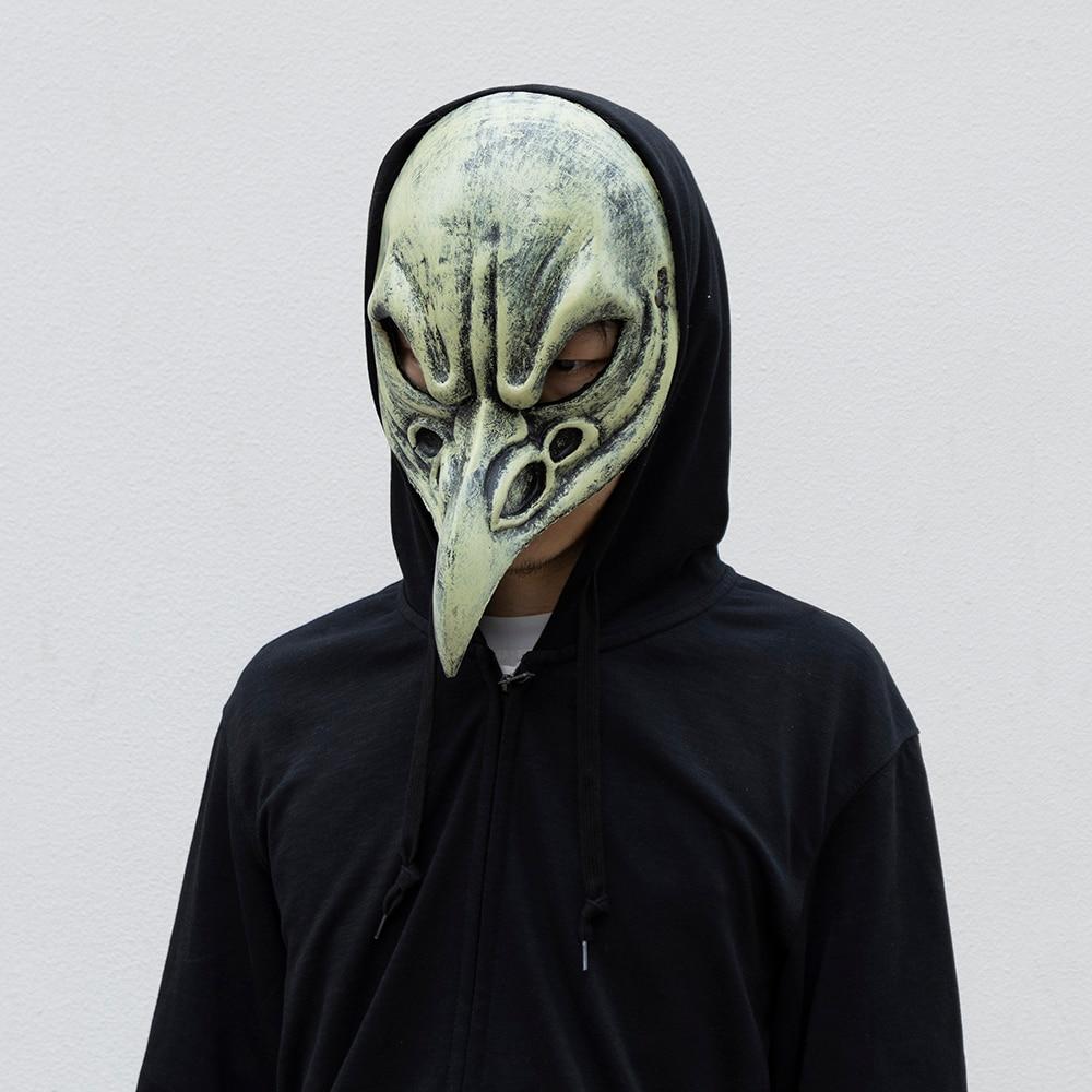 Купить с кэшбэком Halloween Bird beak Mask Long Nose Carnival Venetian Masks Plague Doctor Masques Aime Face Mascarillas Wholesale Dropshipping
