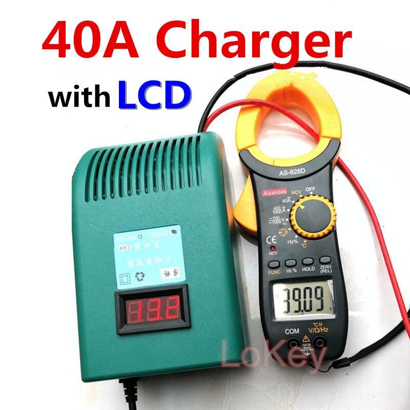 سريع شاحن 40A 3S 12.6V ليثيوم أيون 4S 14.6V Lifepo4 4S 16.8V ليثيوم أيون مع شاشة الكريستال السائل شاشة ل يثيوم أيون Lifepo4 الرصاص حمض البطارية