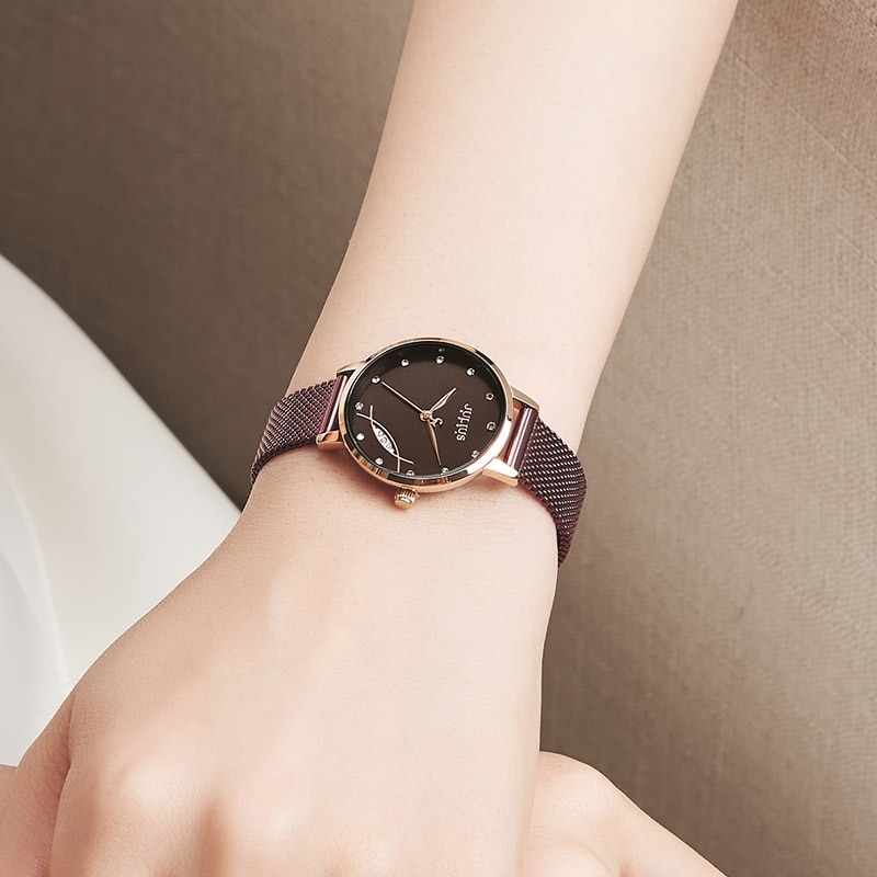 Julius Watch 7mm thin watch fish design window auto date chic women's casual watch ladies fashion original clock  JA-1179 enlarge