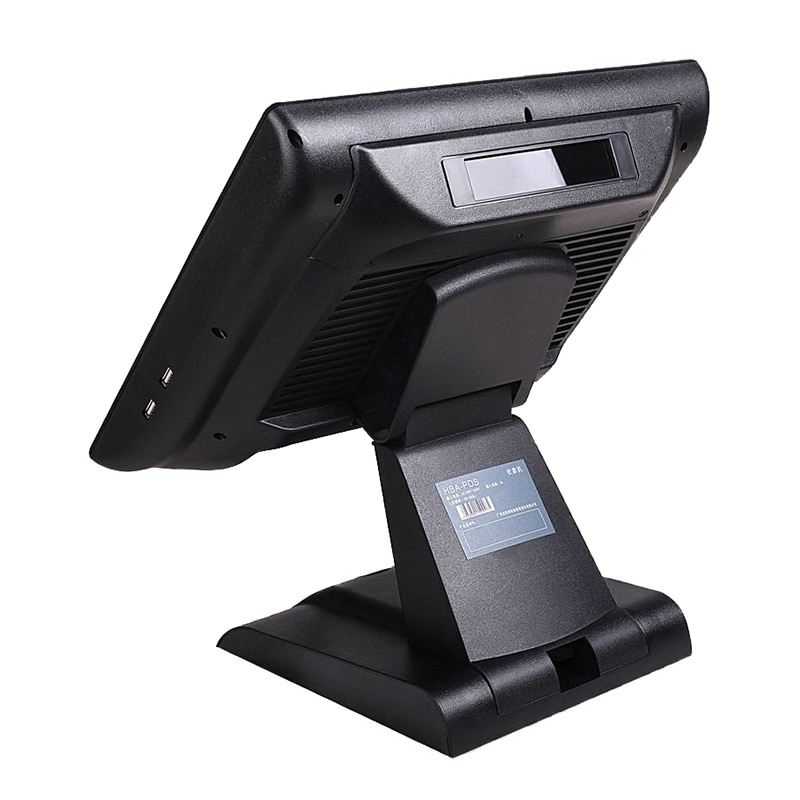 cash register pos system 15 inch Touch Resistive screen POS Terminal All In One for restaurant retail with card reader for win7 enlarge