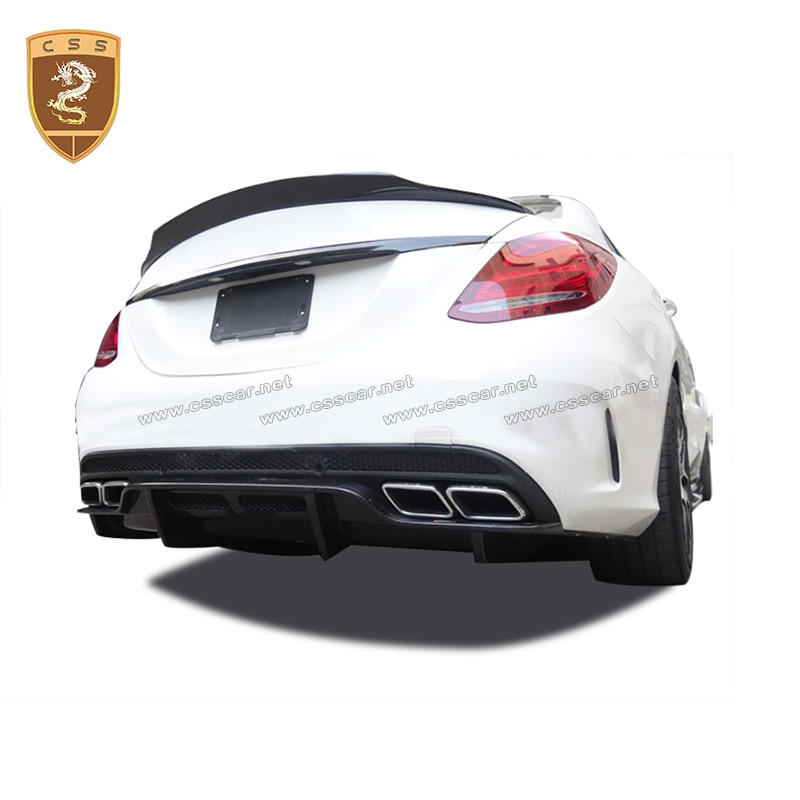 Carbon Fiber PSM Style Front Lip Bumper Carbon Diffuser Fits For Merceds W205 C63 4 Door Sedan 2 Door Coupe 2016 2017 2018