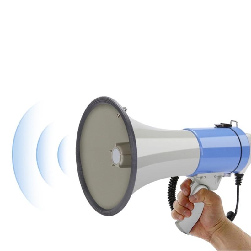 Megfono porttil para exteriores, altavoz de alta potencia, 50W, altavoz grabable, Tweeter enlarge