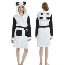 Women Bathrobe Panda Unicorn Adults Flannel Bath Robe Men Nightgown Robe Kigurumi Pajamas pajama sets nightgowns sleepshirts