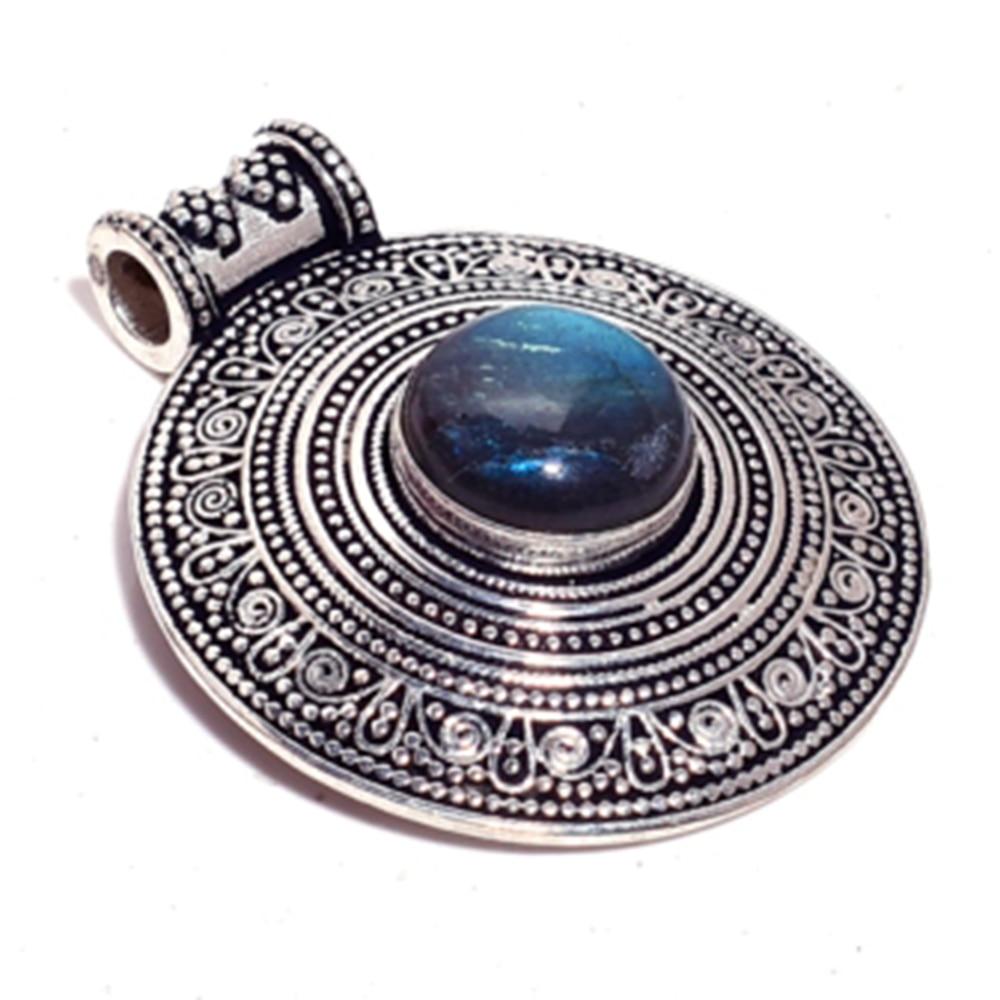 Подлинный кулон из Лабрадорита, без ожерелья, тибетское серебро, ручная работа, Женские Ювелирные изделия, подарок GRP