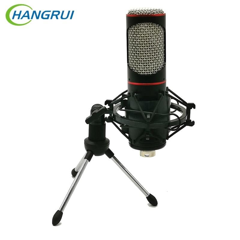 Hangrui 3.5mm microfone de gravação de metal gravador de voz para net vermelho transmissão ao vivo k gravação música jogo voz youtube