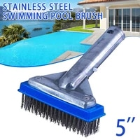 5 inch stainless steel wire bristles swimming pool cleaning brush accessories tool qp2
