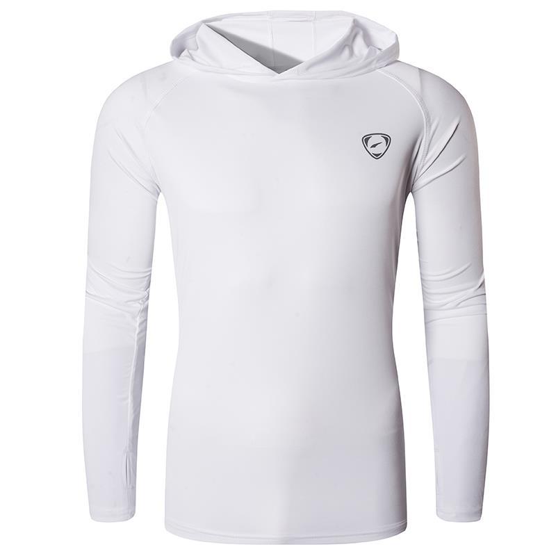 Jeansian Men's UPF 50+ UV Sun Protection Outdoor Long Sleeve Tee Shirt Tshirt T-Shirt Beach Summer LA271 White