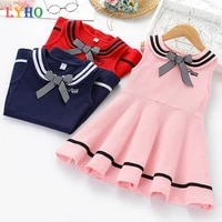girls dresses for party and wedding clothes summer toddler kids vest dress baby naval style dresses childrens princess dress