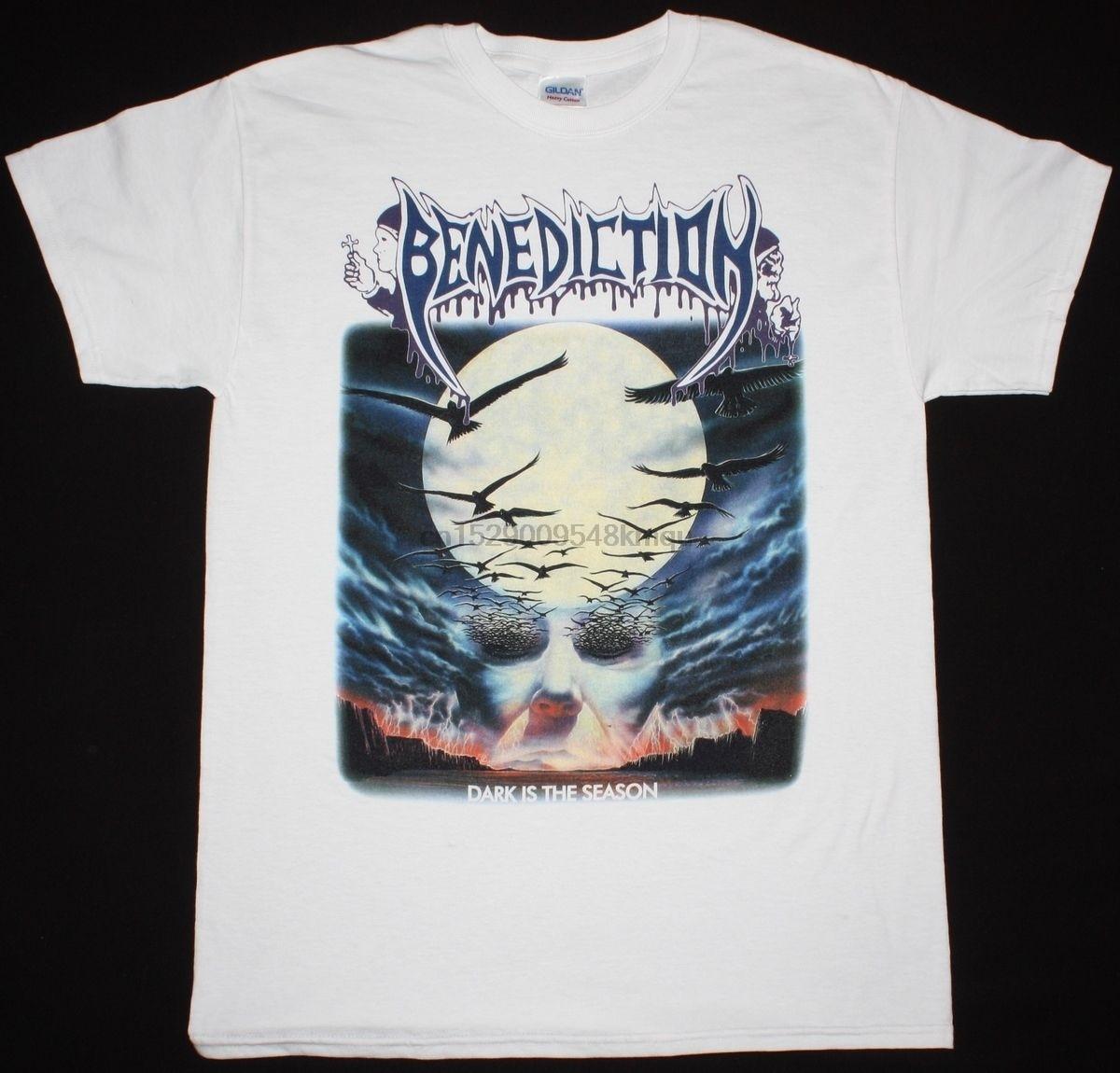BENEDICTION DARK IS THE SEASON DISMEMBER NAPALM DEATH S-XXL NEW WHITE T-SHIRT 2019 fashion t shirt   100% cotton tee shirt