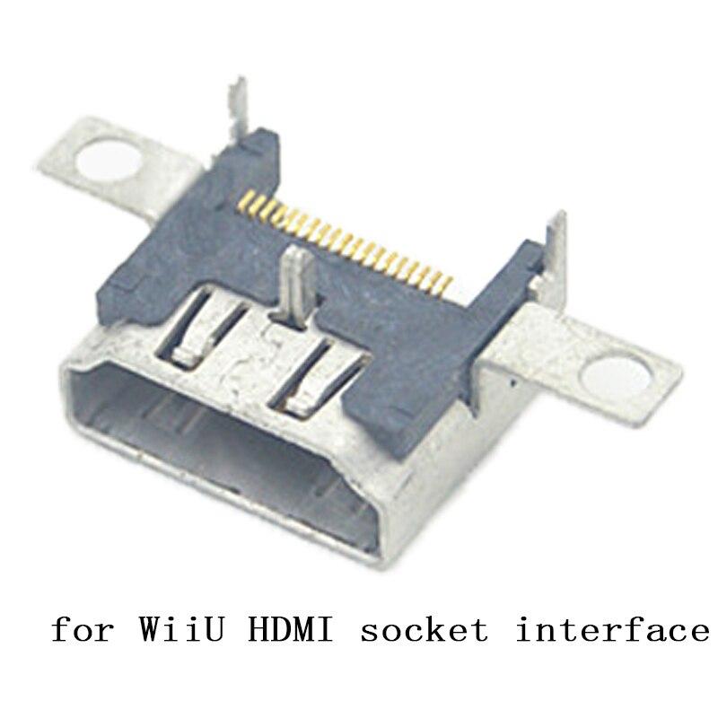 100 قطعة HDMI الأصلي ل نينتندو WiiU ميناء المقبس عالية الوضوح واجهة HDMI ميناء مقبس توصيل ل نينتندو وي U WiiU