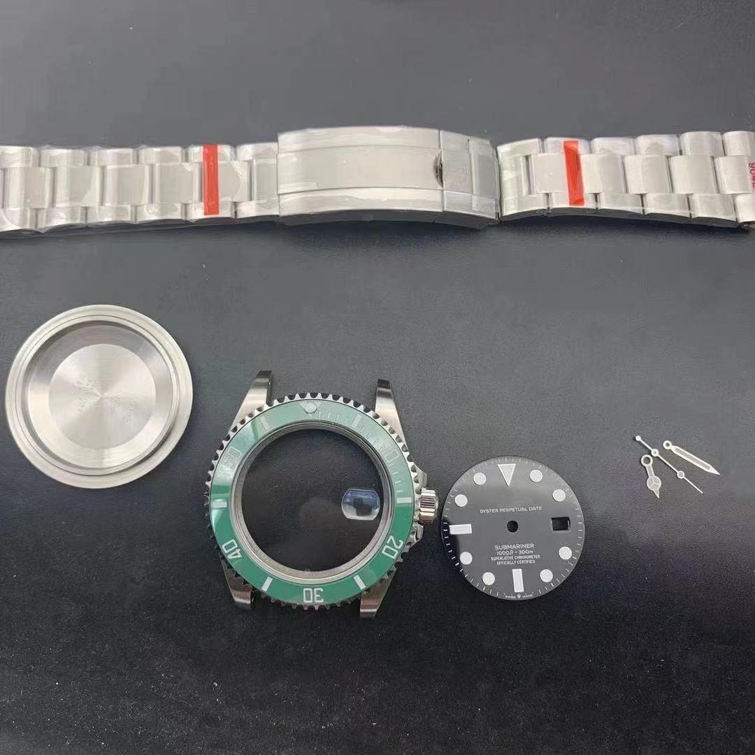 fit 3135 movement  submariner case kit watch repair parts 41mm 904l steel waterproof