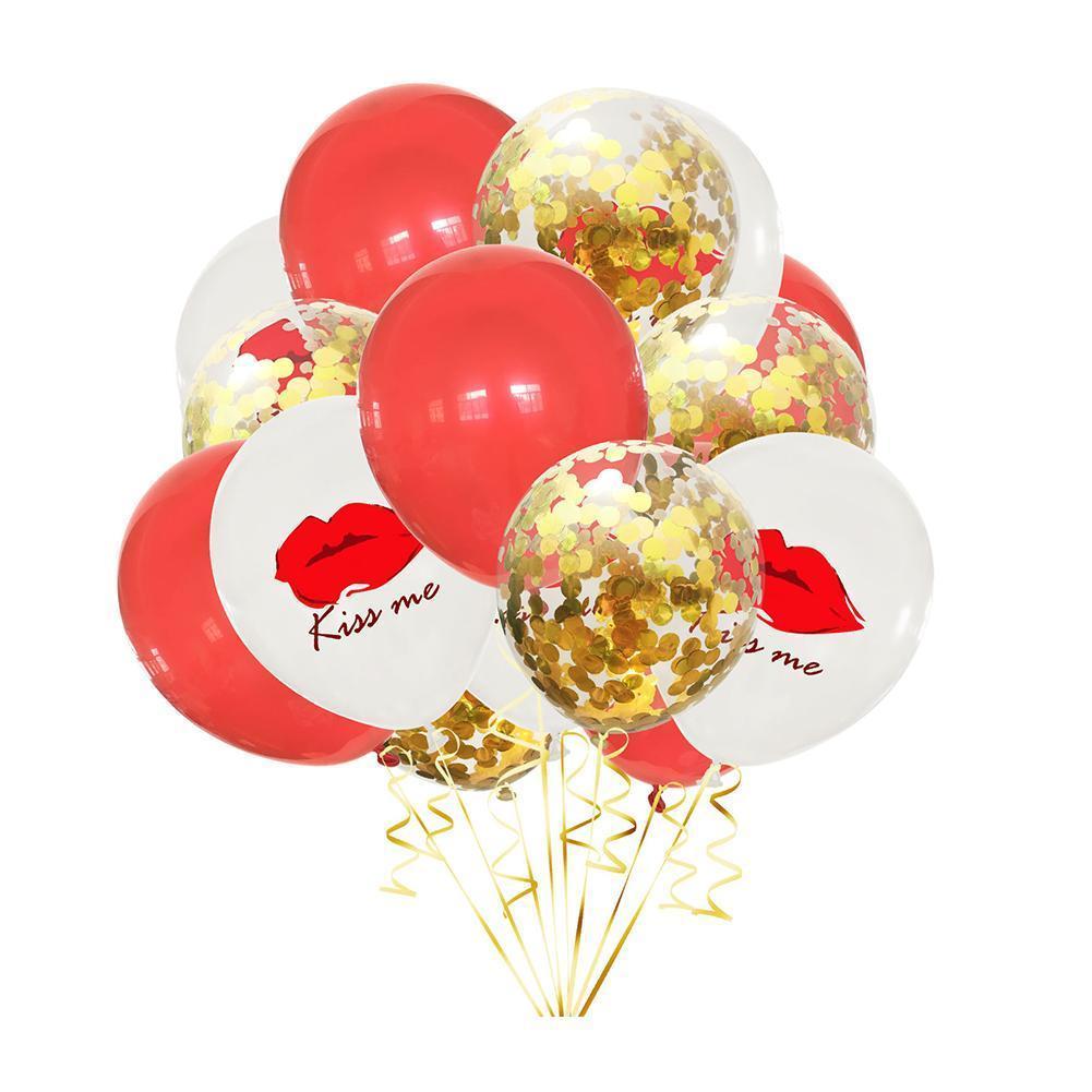 Фото - 15pcs/set Romantic Wedding I Love You Foil Balloons Valentine Decorations Globos Birthday Balloons Latex Heart Supplies Day D5Z4 1pc 16inch te amo balloon spanish i love you foil letter baloon valentine s day wedding anniversary decoration supplies globos