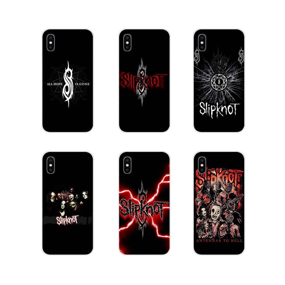La banda de Heavy metal Slipknot accesorios de la cubierta de la piel del teléfono para Apple ipod touch 5 iPhone 6 X XR XS 11Pro MAX 4S 5S 5C SE 6 6S 7 8 Plus