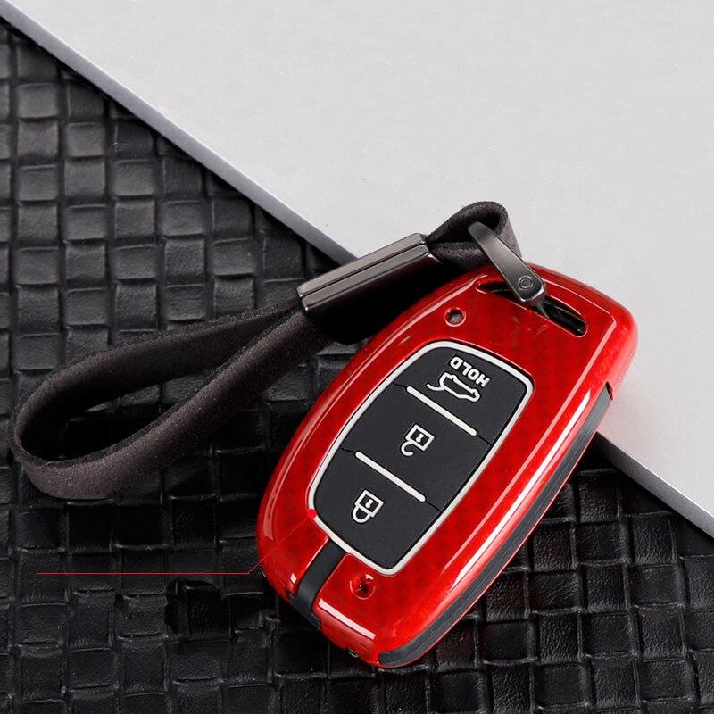 Aleación de Zinc + gel de sílice carcasa completa para llave de coche para Hyundai IX25 IX35 I20 I30 I40 hb20 Santa Fe Creta Solaris 2017 accesorios de automóviles