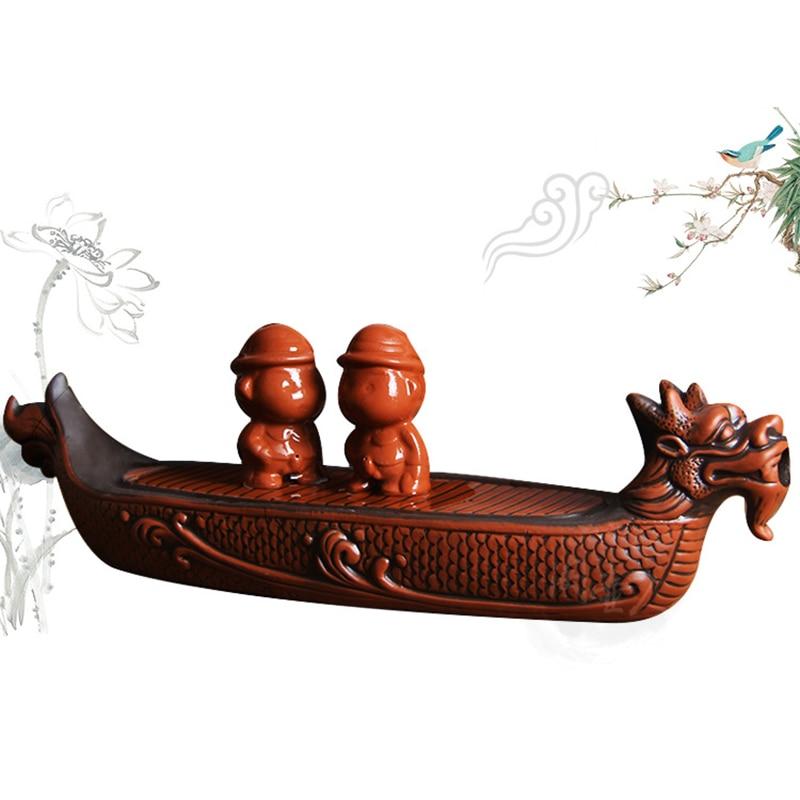 Purple clay Dragon Tea tray Drainage Water storage Kung Fu Tea set room Board table Chinese tea cup ceremony tools