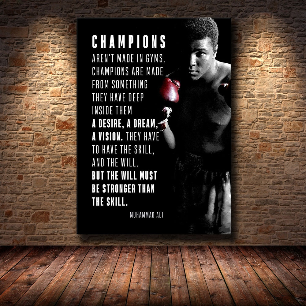 HD Print Canvas Art Inspirational Success Quote Motivational Quote Football Star Art Poster Print Wall Picture for Living Room