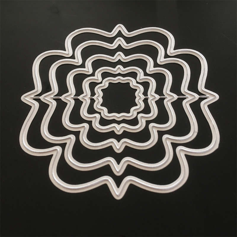 86*86 mm 5pcs irregular frame New Metal Cutting Dies New Stencils for DIY Scrapbooking Paper Cards Craft Making Craft Decoration