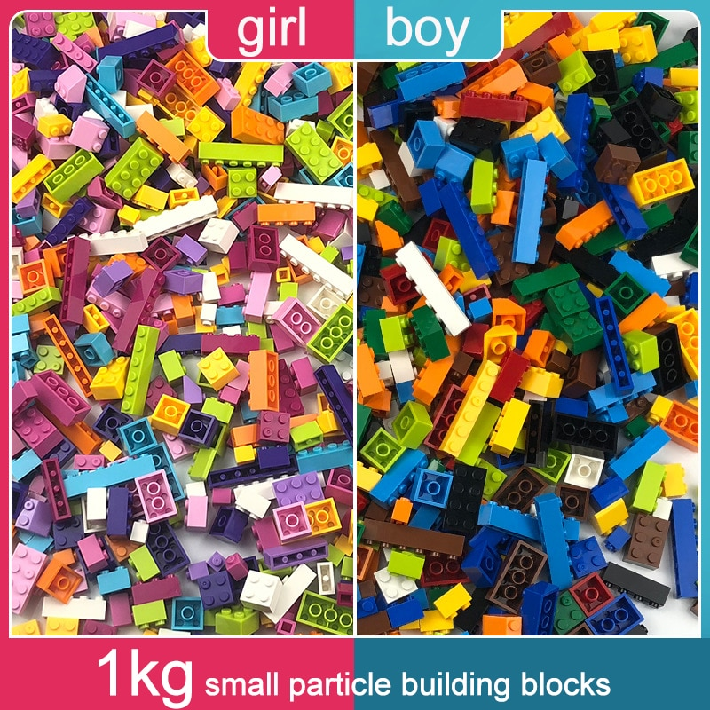 1KG al azar DIY bloques de construcción conjuntos de ladrillos creativos compatibles con todas las marcas juguetes educativos clásicos de montaje para niño niña