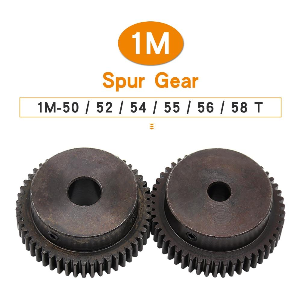 ترس ترس 1 متر-50T/52T/54T/55T/56T/58T SC45 # الكربون الصلب عالية التردد التبريد من الأسنان والعتاد عجلة تتحمل 6/8/10/12/15mm