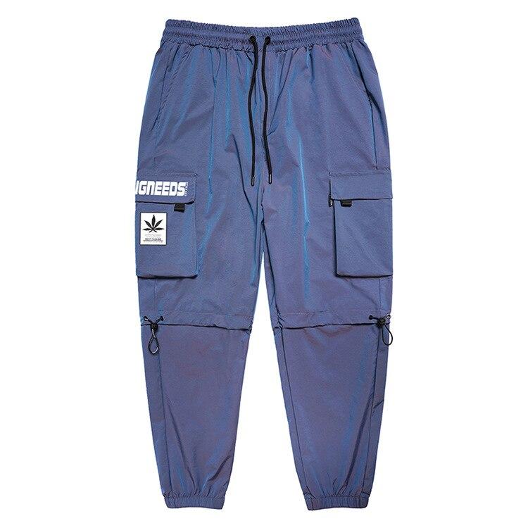 Мужские свободные брюки-джоггеры в стиле хип-хоп с поясом на резинке