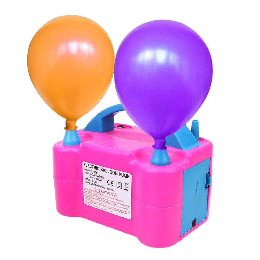 HOOMIN الاتحاد الأوروبي التوصيل عالية الجهد منفاخ بالونات بالون الكهربائية مضخة نفخ ثقب مزدوج منفاخ الهواء ضاغط