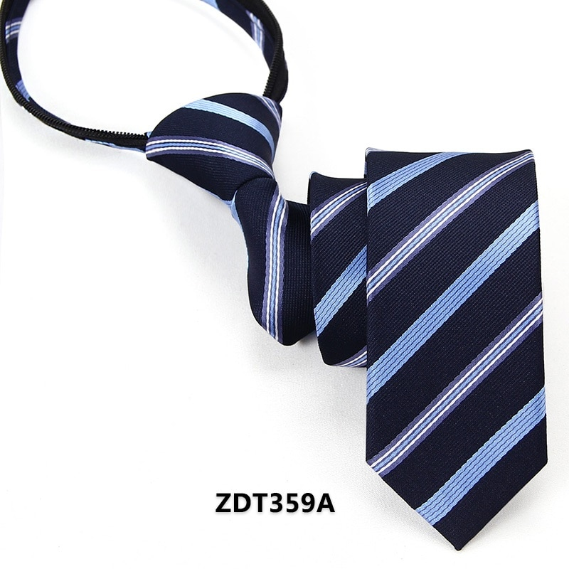 High Quality 2019 New Designers Brands Fashion Business Casual 5cm Slim Ties for Men Zipper Necktie Formal Work with Gift Box