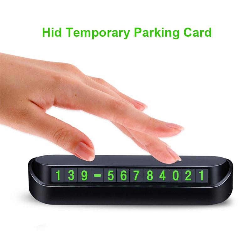Светящаяся Автомобильная наклейка для временной парковки, автомобильный номерной знак телефона, слот для карт, скрываемая автомобильная п...