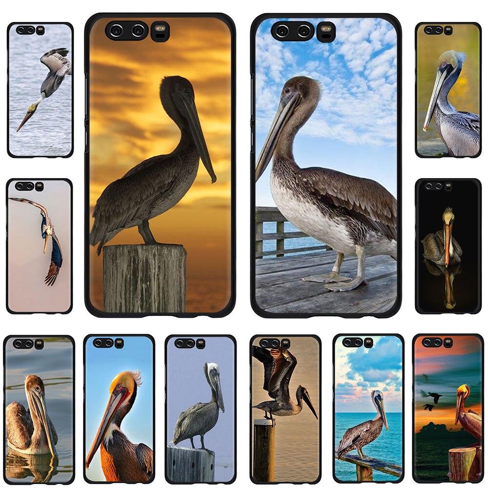 Мягкий чехол для телефона EWAU с животными птицами коричневыми пеликанами для huawei Honor view 20 9X 6A 7A 7C 7X 8C 8X Pro 8 9 10 Lite
