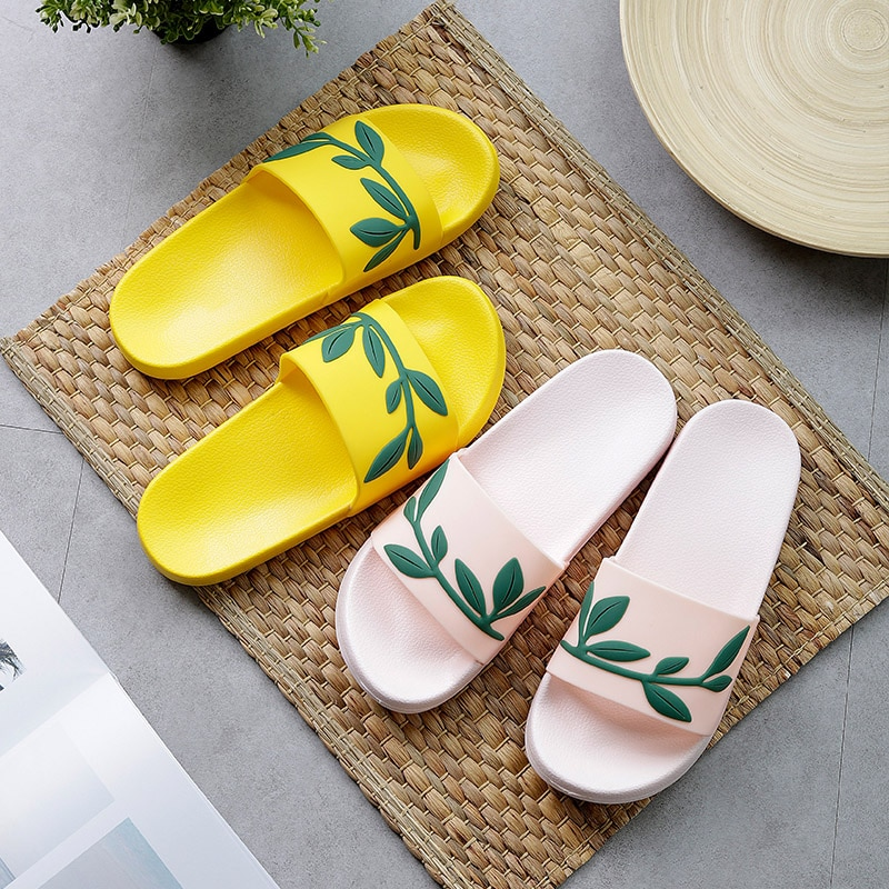 Chinelos De Verão Feminino Bonito Frutas Melancia Morango Sola Macia Praia Slides Indoor Outdoor Sandálias Senhoras Sapatos Lisos Chinelos Aliexpress