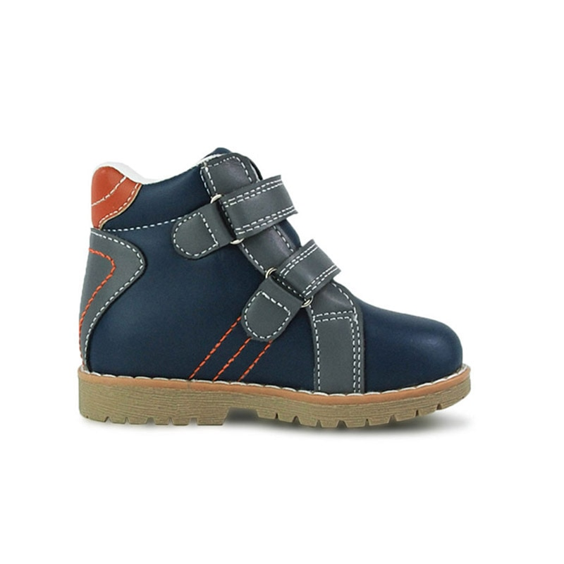 Ortoluckland Babies Girl Casual Shoes Orthopedic Ankle Booties For Children Boys Blue Flatfeet Walking Footwear Small Sizes22 enlarge