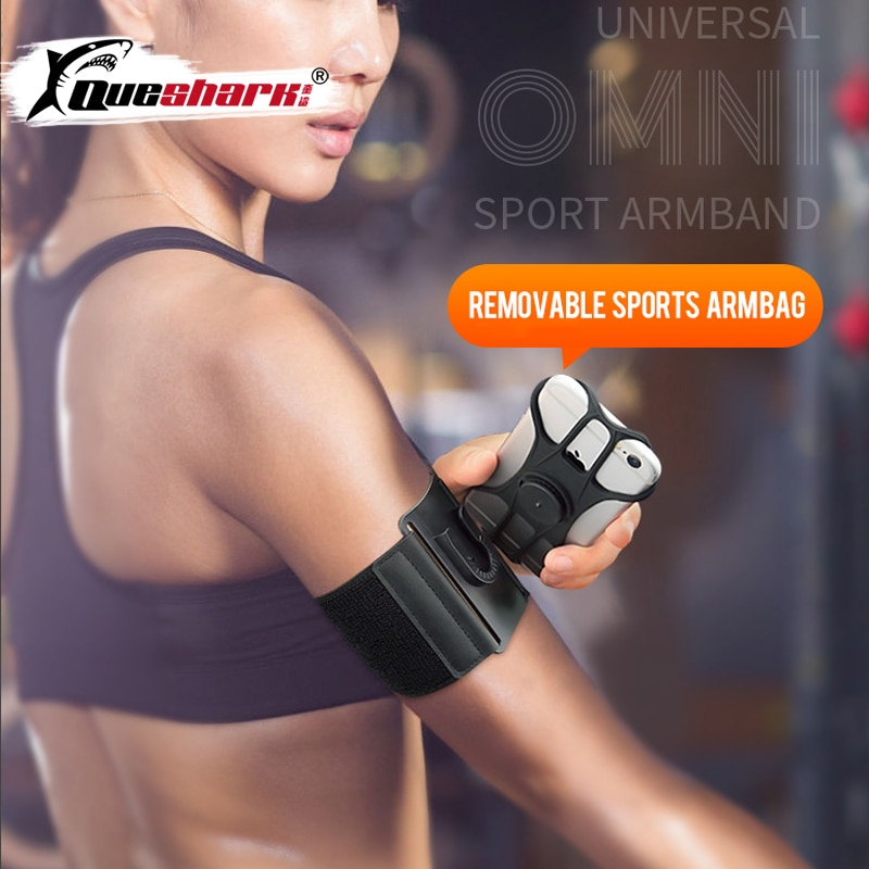 6 inch sports jogging gym armband running bag arm wrist band hand mobile phone case holder bag outdoor waterproof nylon hand bag Detachable Mobile Phone Running Arm Bag Sports Wrist Bag Cycling Armband Universal Wrist Band Arm Bag Bicycle Phone Case Holder