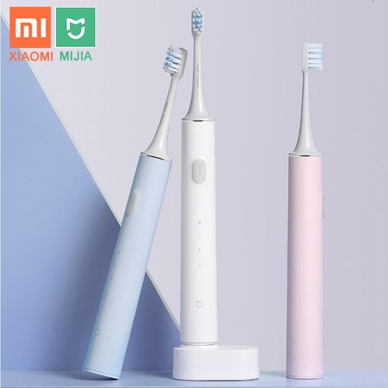 XIAOMI MIJIA-فرشاة أسنان كهربائية لاسلكية T500 T300 ، فرشاة سونيك ذكية ، تبييض الأسنان بالموجات فوق الصوتية ، هزاز ، منظف نظافة الفم